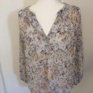 Rose + Olive floral long sleeve blouse
